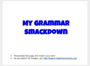 Grammar Smackdown Cover