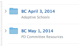 Example Schoology Staff Meeting Folders