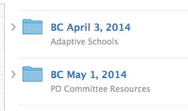 Example Schoology Staff Meeting Folders