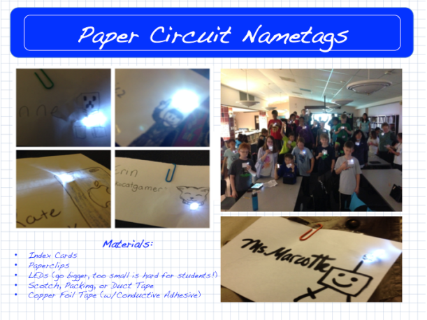 Paper Circuit Nametags